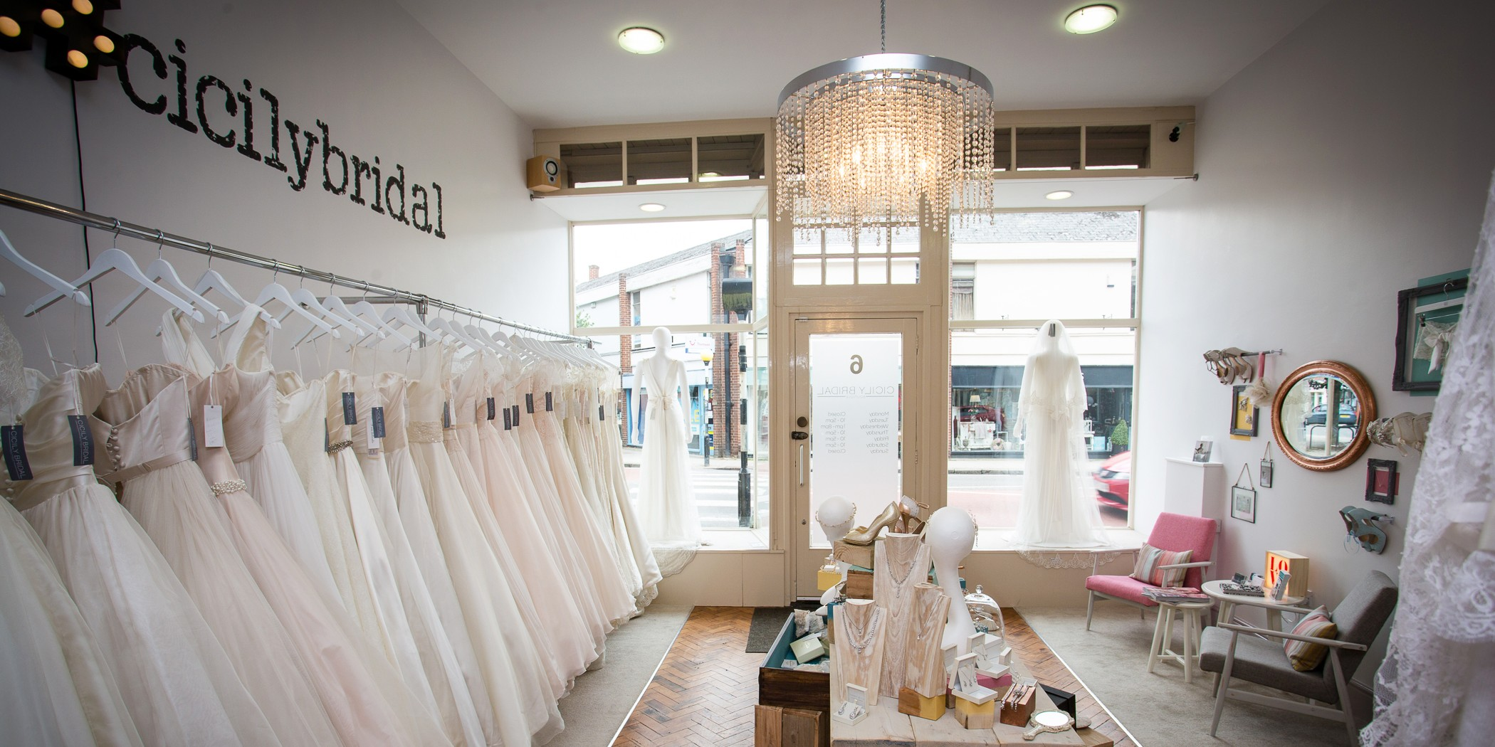 The exciting #restyle at Cicily Bridal - Main shop area