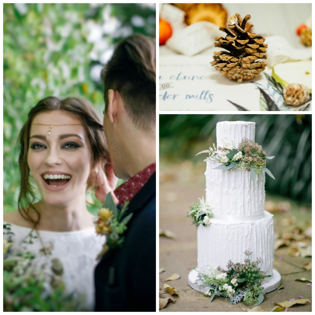 Bohemian Inspired Wedding Dress Photoshoot - Wedding Cake