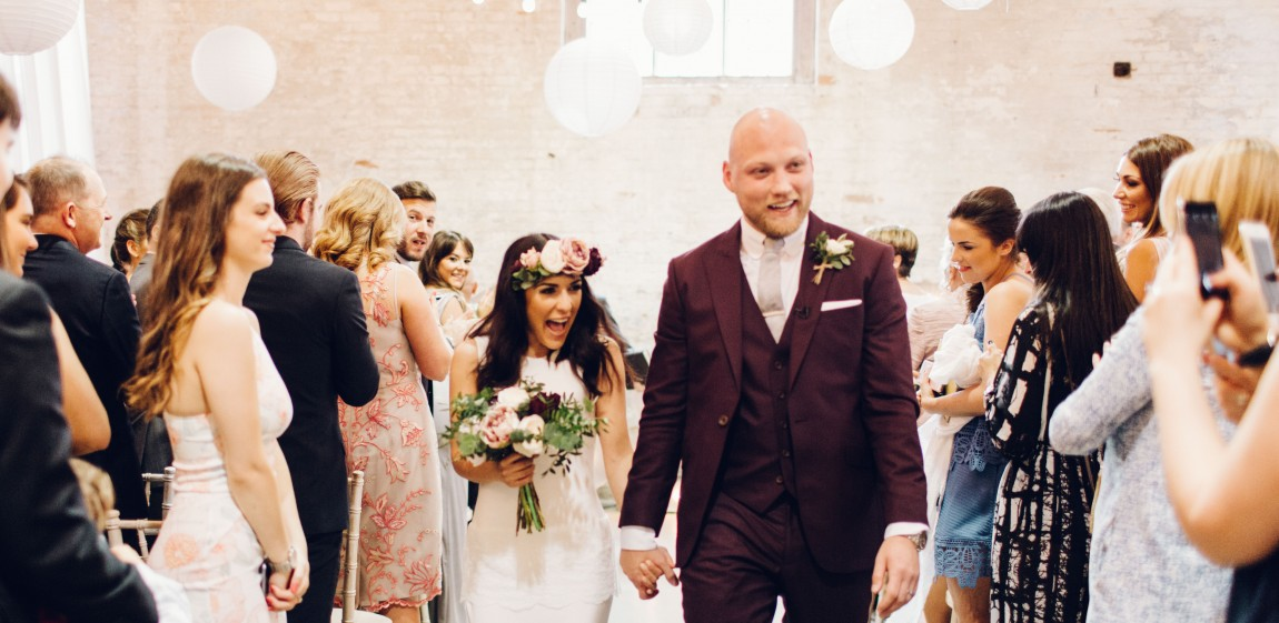 Real Bride Giulia wears Sada by Charlie Brear - Just married