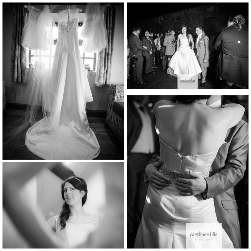 Real bride laura Augusta Jones - Black & white Collage