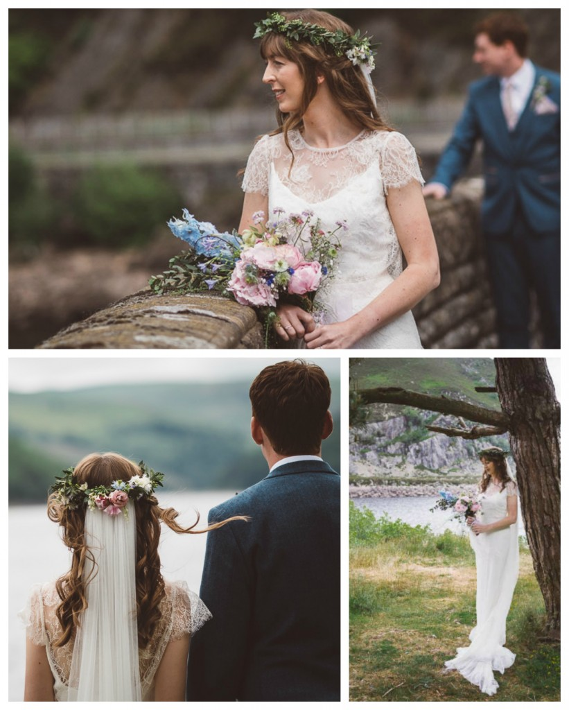 Real Bride Natalie in Jesus Peiro - Flowers & Wedding Make up