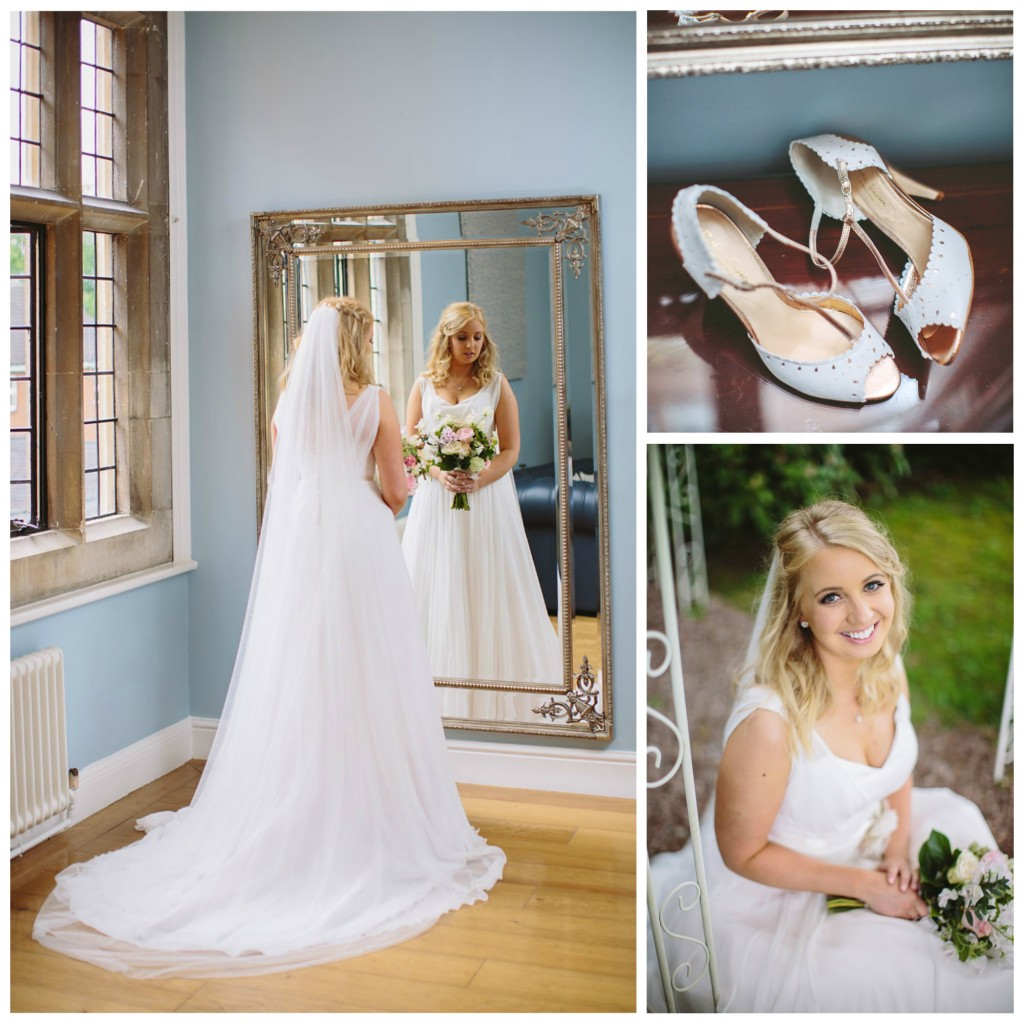 Naomi Neoh real bride Clementine - Mirror & shoes