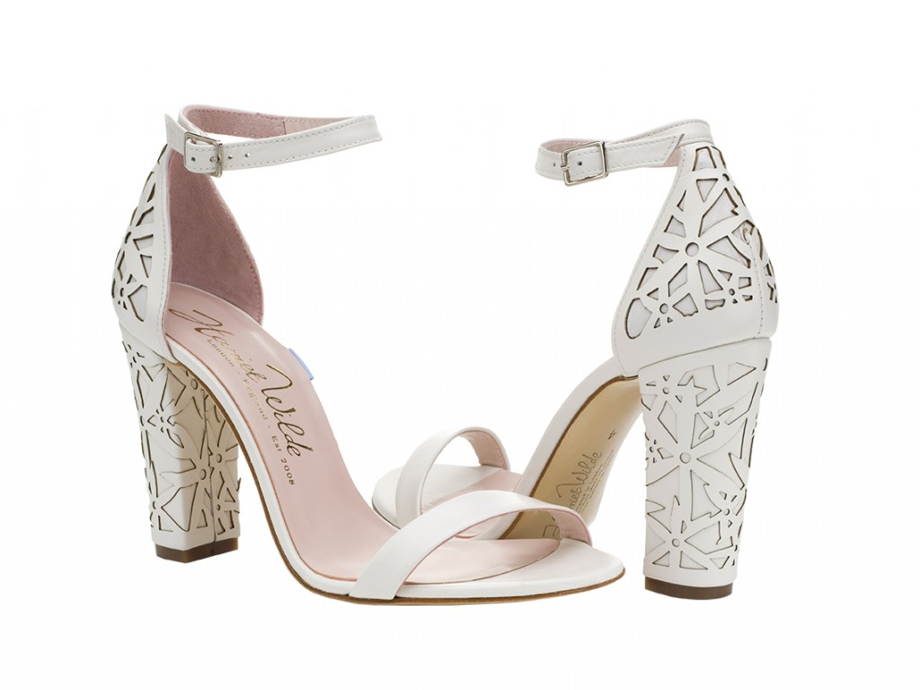 Harriet Wilde Laser Block Heel Wedding Shoes