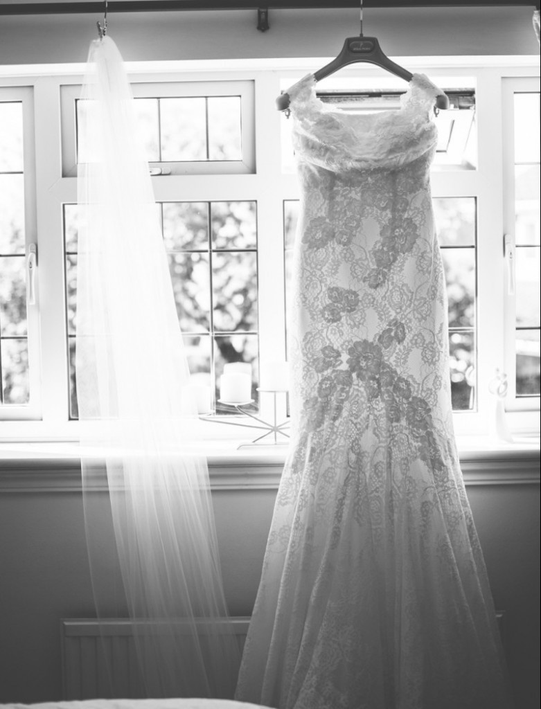 Real Bride Clare wears Jesus Peiro Dress 6005 - Bride dress & veil