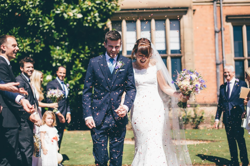 Real Bride Clare wears Jesus Peiro Dress 6005 - Confetti Shot