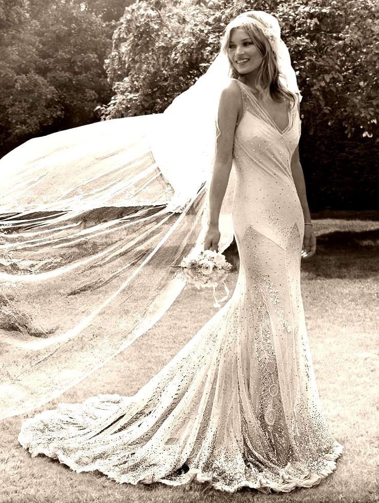 Eliza Jane Howell and the bias cut dress - Kate Moss Wedding Dress