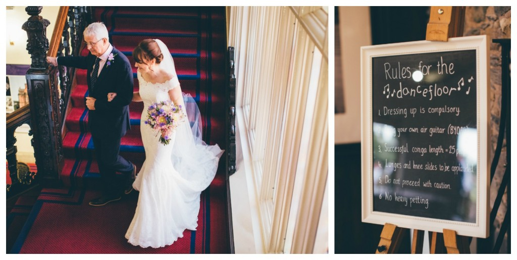 Real Bride Clare in Jesus Peiro - Rules of the dance floor